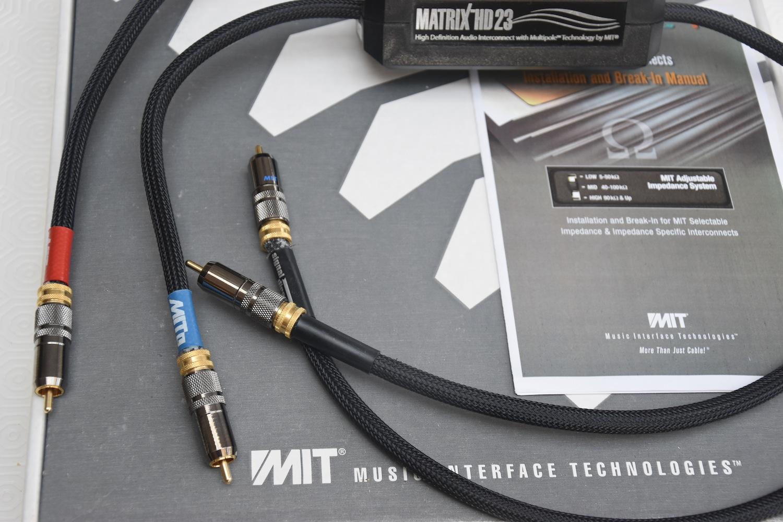 MIT Cables Matrix HD23 1m RCA Interconnect - Choice Hifi